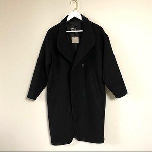 Zara wool blend black coat